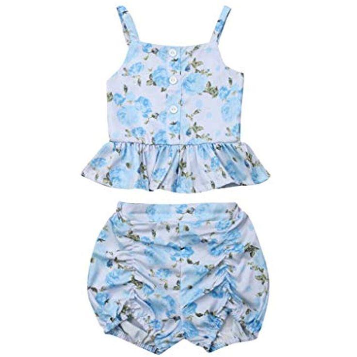JUTOO Mädchen Baby 2 Stück Set Kinder Floral Weste Tops  Short Pants Sommer Ou… – Jungen