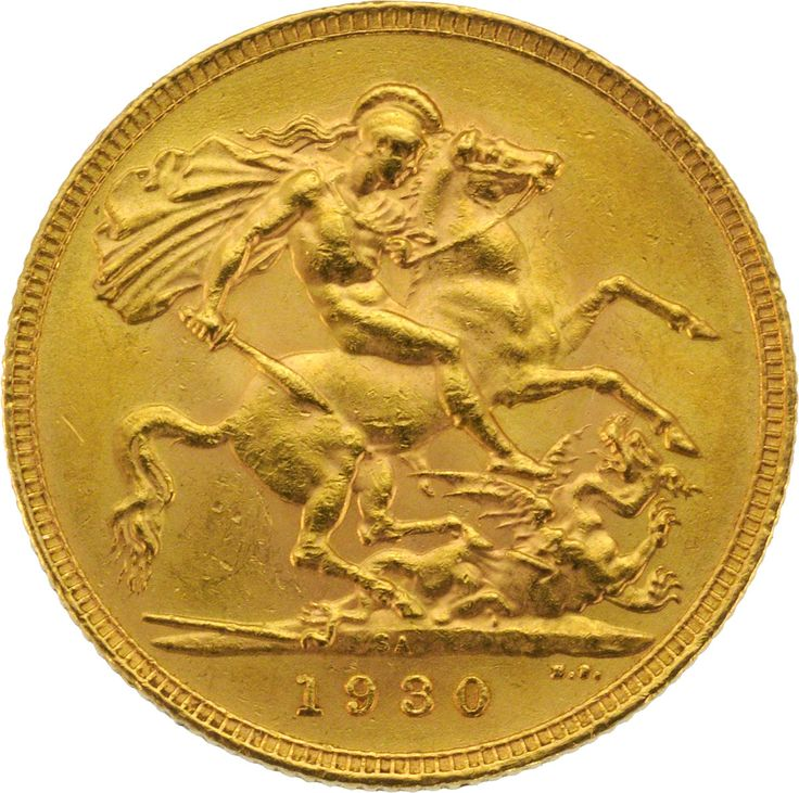 1930 Gold Sovereign : George V St George Pretoria South Africa Mint