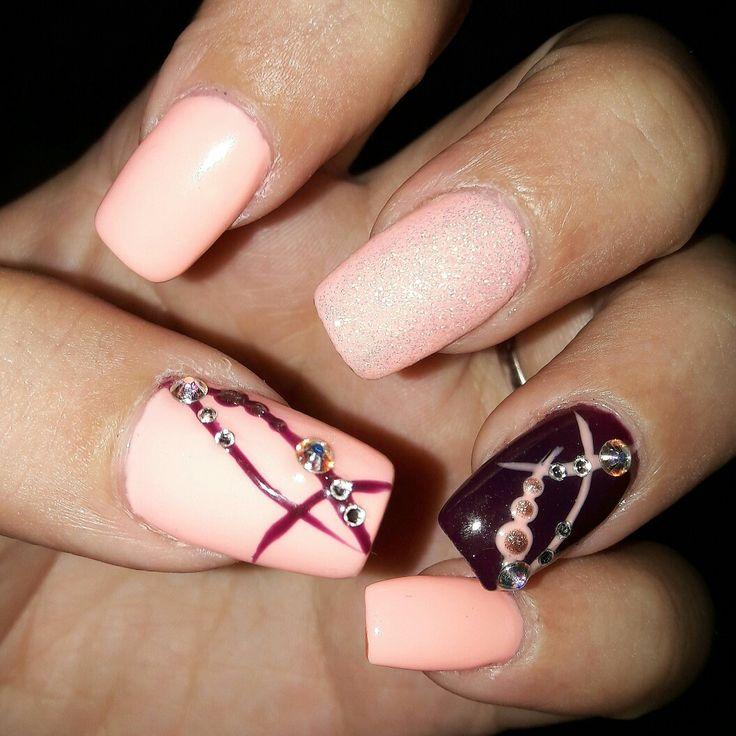 Nails by natasa!💅#nails#nailart#naildesign#summernails#pinknails#gelnails#nailfashion#nails2017#summer2017#swarovski#swarovskinails