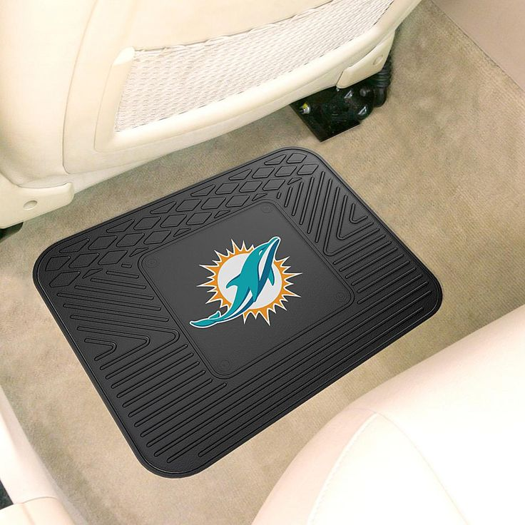 "Officially Licensed NFL Team Logo 14"" x 17"" Mat by Sports Licensing Solutions - Cowboys - Dolphins"