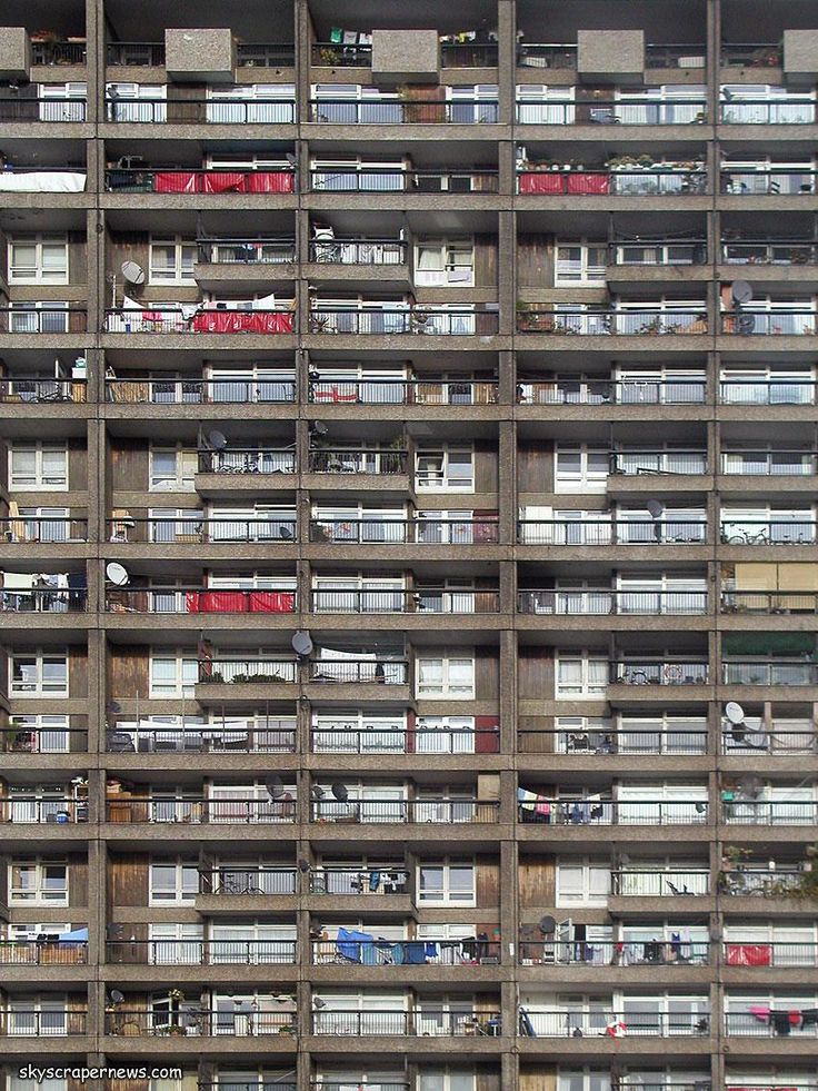 Trellick Tower, North Kensington, London; 1966-72 by Erno Goldfinger for the Greater London Council.