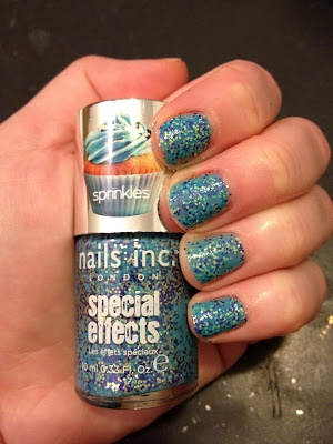 Nails Inc. Special Effects Sprinkles Collection Swatches: Pudding Lane #nails #beauty