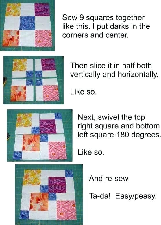disappearing 6 patch quilt pattern