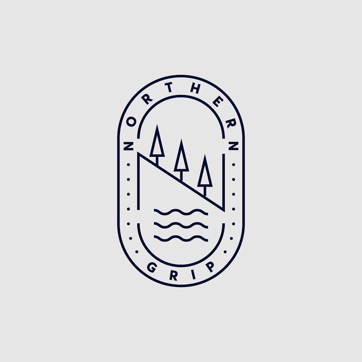 Unbenutztes Logo für ein Mountainbike-Festival w…