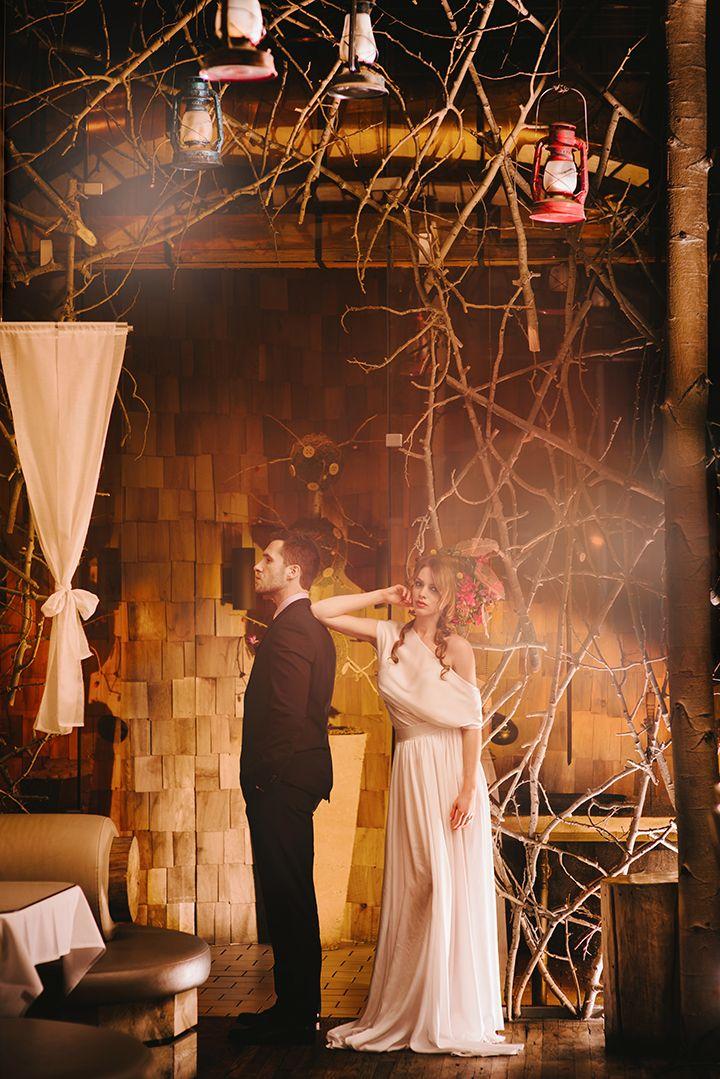Indoor Forest Wedding | Beatrice & Woodsley | June Cochran Photography