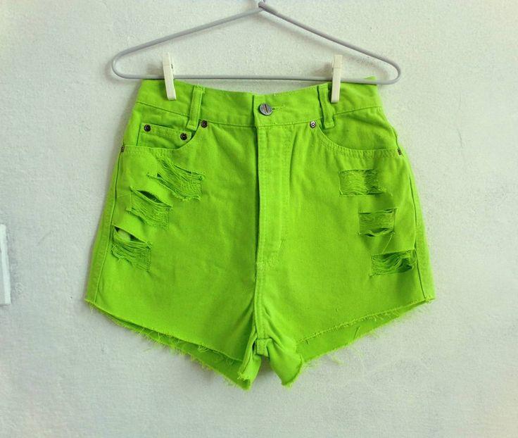 cintura alta verde limão - short catucci