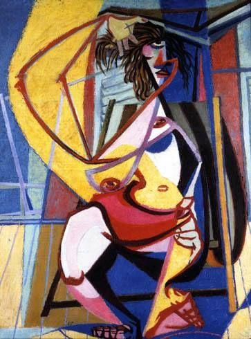 Enrico Prampolini / CASSANDRA AL MARE. (1947 CA.)