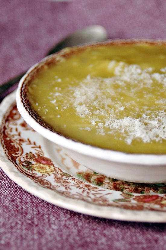 minestra di pisellini secchi