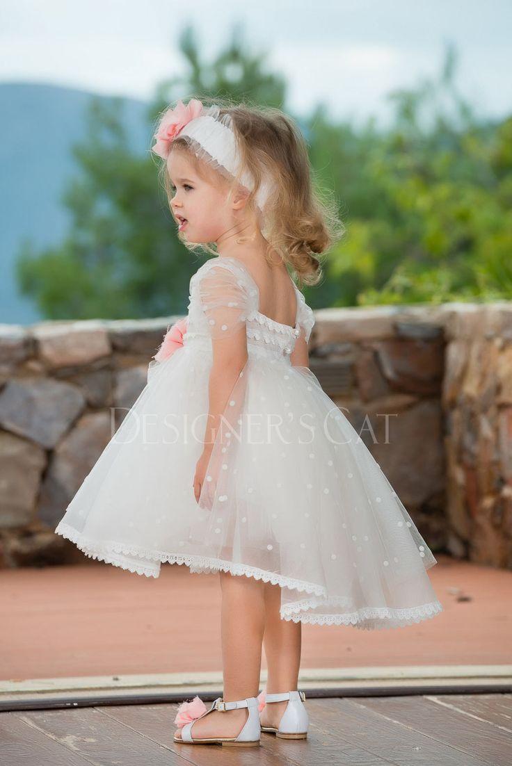 des.ADREIA  Ασύμμετρο φόρεμα #βάπτισης, από ανάγλυφο πουά  τούλι και γαλλική βαμβακερή τρέσα στα τελειώματα. #baptismclothes #christeningclothes #vaptisi #βάπτιση #alexandraplati #luxurybabydress #kidscollection #βαπτισηκοριτσιού #designerscat  http://www.catinthehat.gr/gia-koritsi/summer-collection-koritsia/adreia-el.html