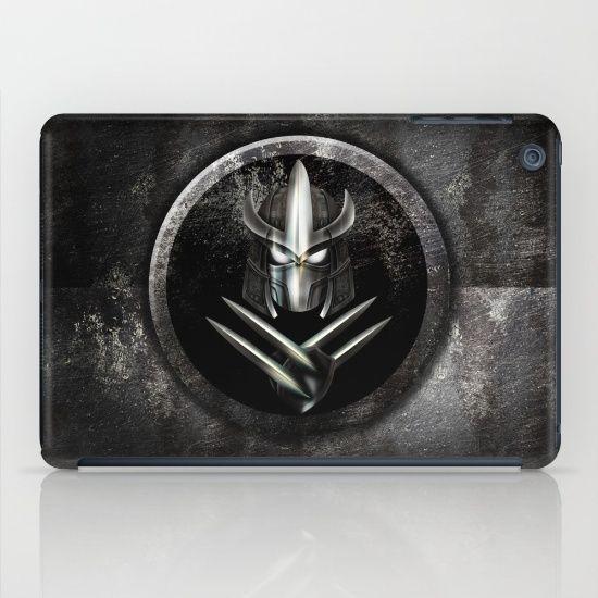 Rustic Metal samurai shredder Mask  Laptop & iPad Skin #accessories #case #ipad #tablet #ninjaturtles #ninja #turtles #teenage #mutant #leonardo #donatello #raphael #michelangelo #turtlepower #footsoldier #shredder