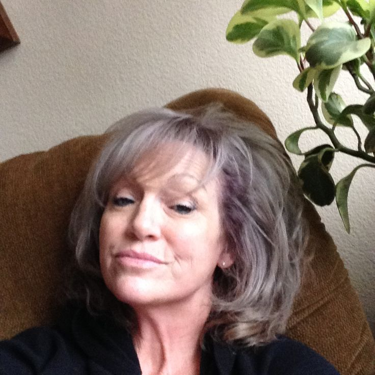 #grayhair.     I did it finally.  Went to Regis Hair Salon and met a young gal who bleached me and colored me with a darker root and lighter ends.  Love the results.