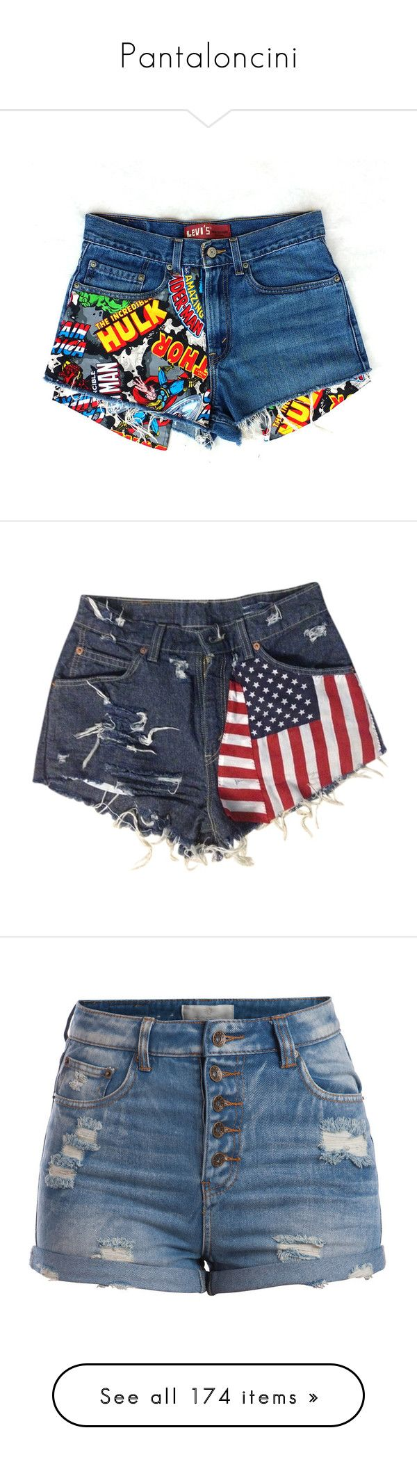 """""""Pantaloncini"""" by josnielcarilvolo ❤ liked on Polyvore featuring shorts, bottoms, pants, cut off jean shorts, high-waisted shorts, high waisted denim shorts, jean shorts, cut off shorts, cutoff shorts and short shorts"""