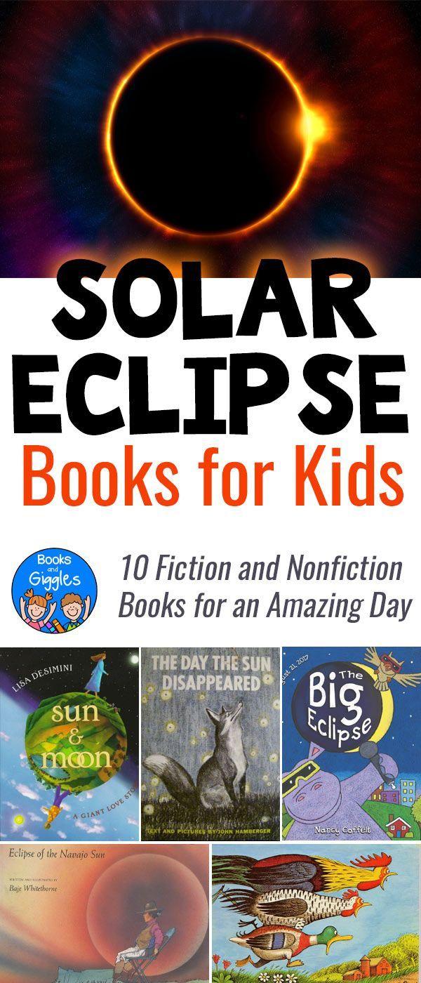 Solar eclipse books for kids via @booksandgiggles