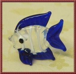 Cute Little Glass Fish in Dark Blue x 1