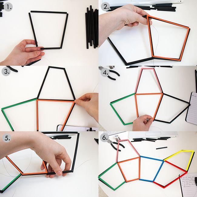 Diy Geometric Light Fixture Geometric Lighting Geometric