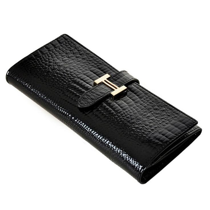 2012新款韩版女士长款牛皮钱包钱夹 女式皮夹 真皮鳄鱼纹钱包-淘宝网