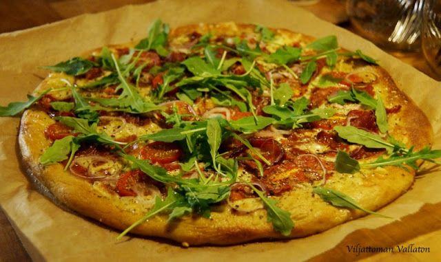 Viljattoman Vallaton: Gluteeniton vaalea pizza