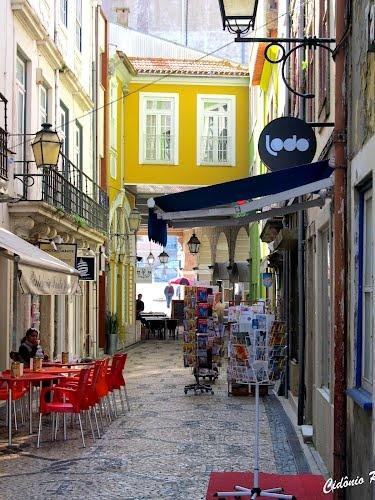 Beautiful stone mosaic walkway in Aveiro - Portugal.