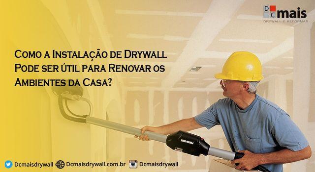 Como a Instalação de Drywall Pode ser útil para Renovar os Ambientes da Casa?  #InstalacaodeDrywall #Drywall #Gesseiro #SantoAndré #SP #SãoPaulo #DCmaisDrywall