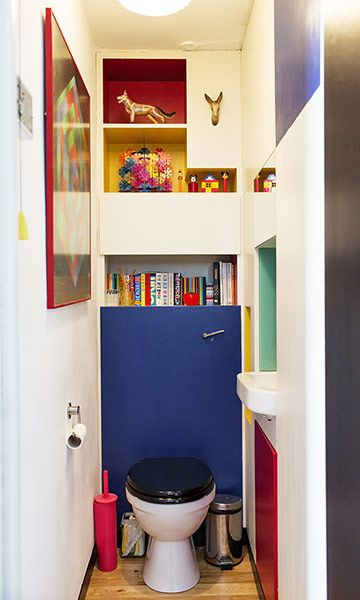 The Selby: The bathroom with primary colour panels
