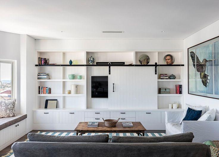Shiplap Cabinetry in Simon Baker Denny's Apartment | Est Open House | North Bondi