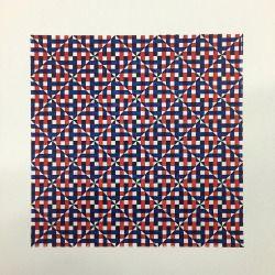 'Temperature' 2 Colour Relief print, Laser cut linoleum Printed of off white somerset.