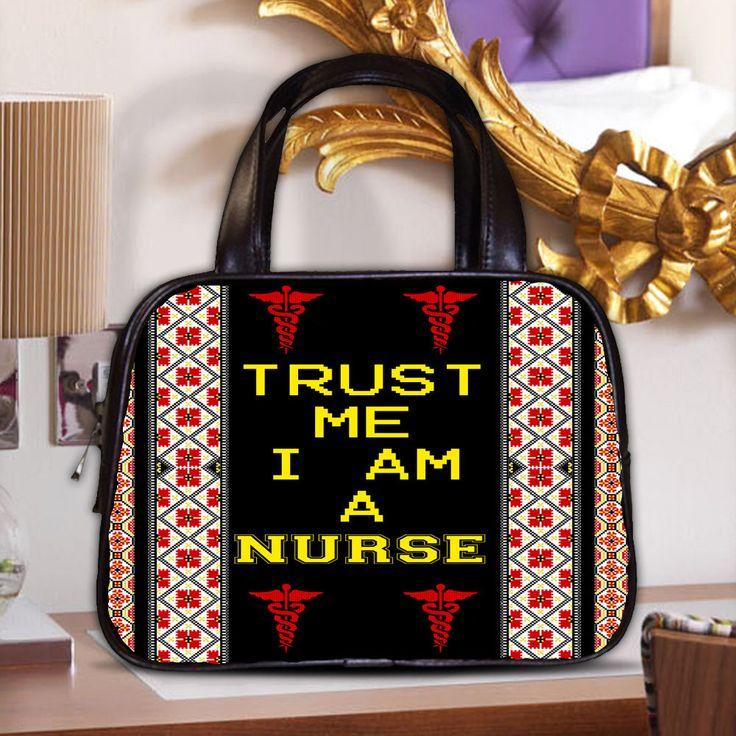 CLASSSIC BAG GIRL TRUST ME I AM A NURSE CUTE PRINTED KNITTING PRINTING FUNNY #NEW