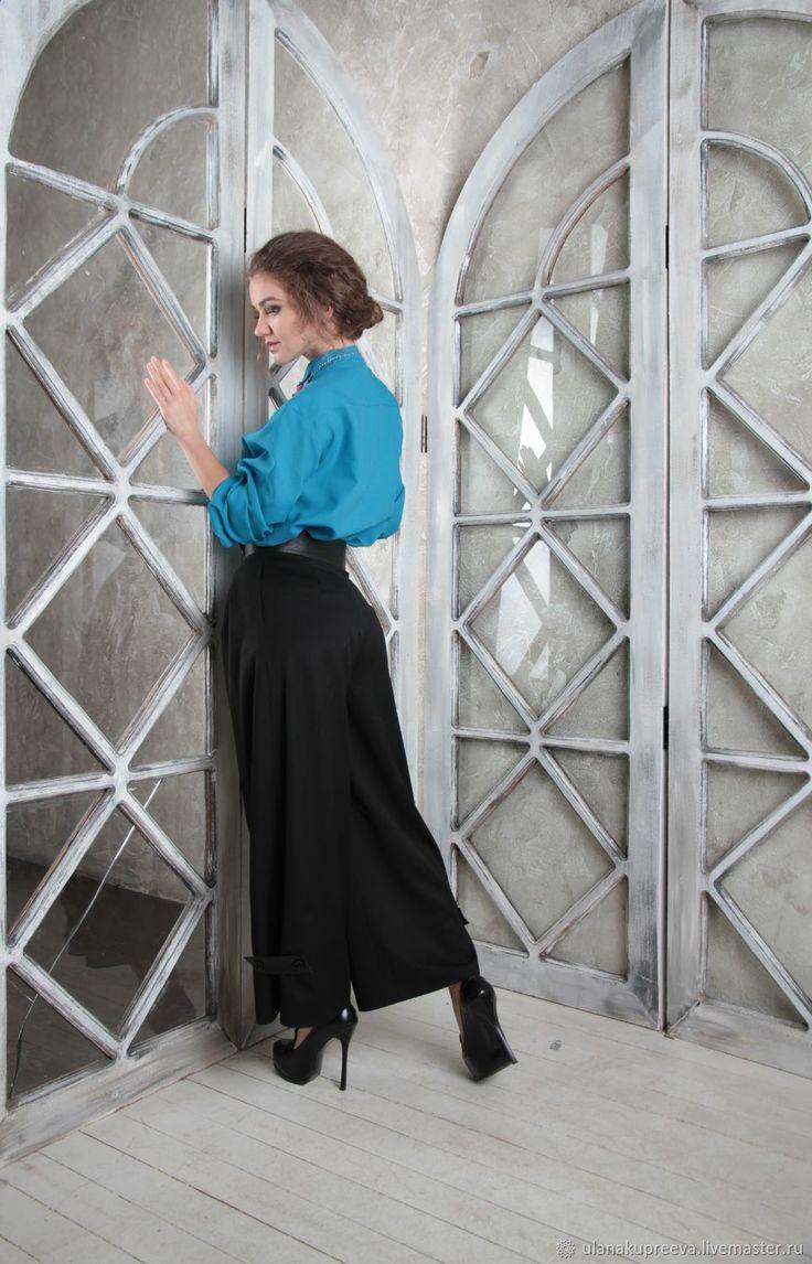 Рубашка женская классическая голубая – купить в интернет-магазине на Ярмарке Мастеров с доставкой