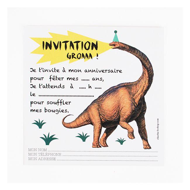 Papeterie - Cartons d'invitation dinosaure - Anniversaire enfant ... Plus