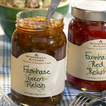 Farmhouse Green Relish - crunchy with a robust, garden fresh flavor of cucumbers, peppers and spices that will taste fantastic on just about everything you like to grill.