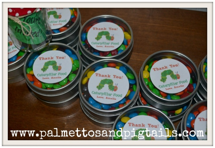 Very Hungry Caterpillar Birthday Party Favors-Caterpillar Food (M's)