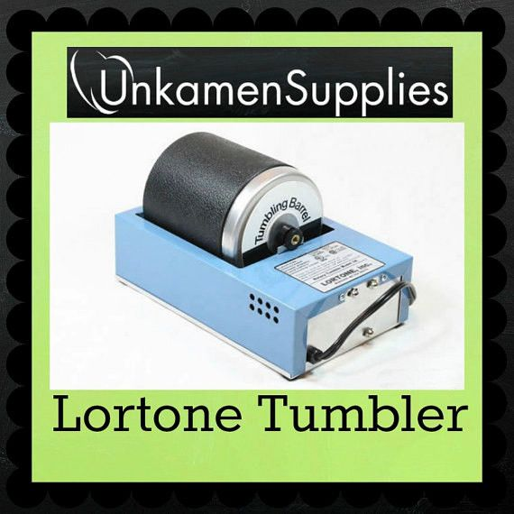 Lortone Tumbler + mixed shape steel shot + enough burnishing solution concentrate to make 1 gallon of solution – USD$135.00 Unkamen Supplies