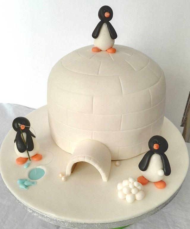 #igloo #igloocake #penguin #penguincake #birthdaycake #sugarcraft #cakeart #iglu #iglukakku #synttärikakku #syntymäpäivä #pingviini #leipomo #blogirinki