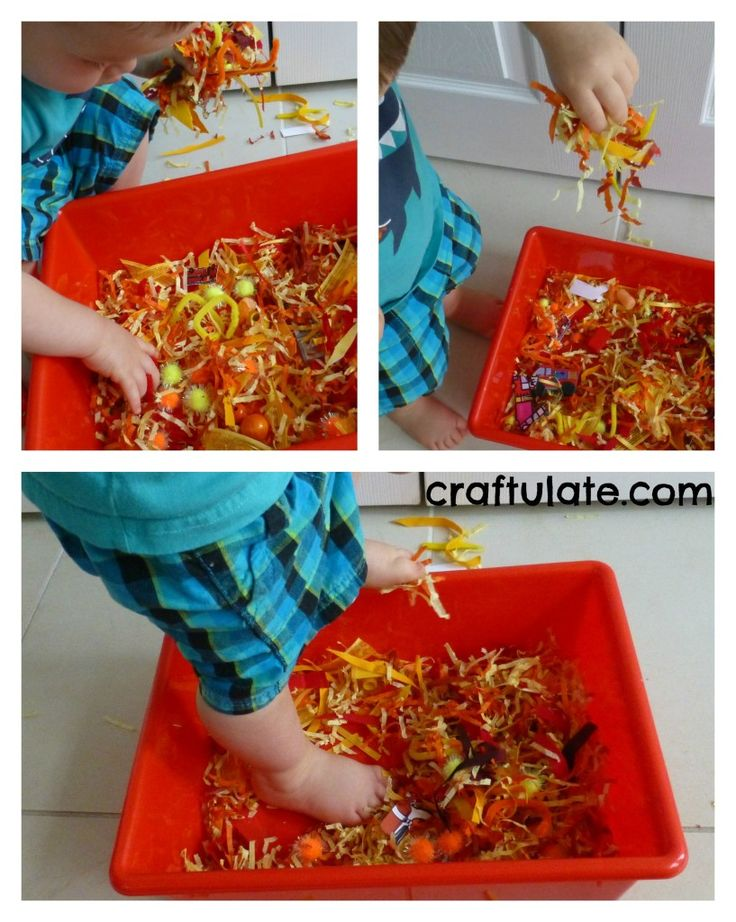 Make a similar sensory bin as part of the obstacle course. Either have child run through it or dig through it to find an object (rescue something).