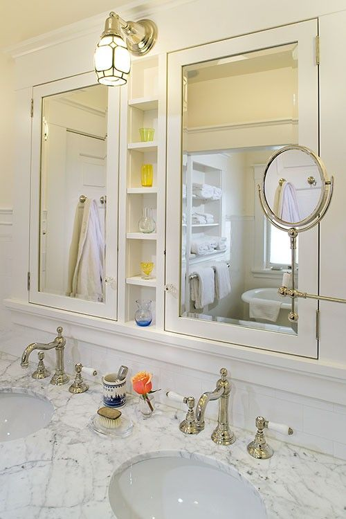 25 best ideas about medicine cabinet mirror on pinterest - Large medicine cabinet mirror bathroom ...
