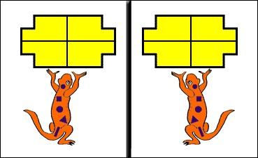 Symmetry Pins Sally Salamander