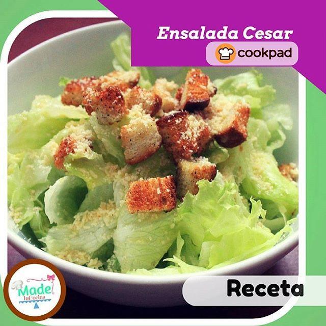 Ensalada césar en el menú semanal de Cookpad.