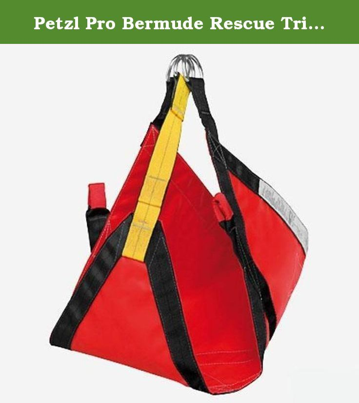 Petzl Pro Bermude Rescue Tri-Harness. Easy and quick to install (even on a sitting person) Adapts to different builds without adjustment (many position options on attachment points).