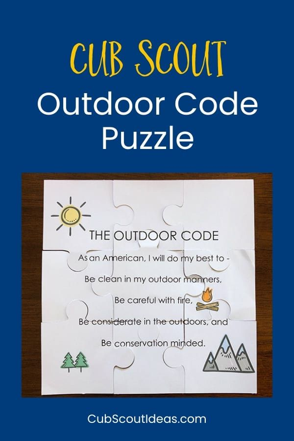 graphic about Outdoor Code Printable called How in direction of Create a Cub Scout Outside Code Puzzle Scouts Cub
