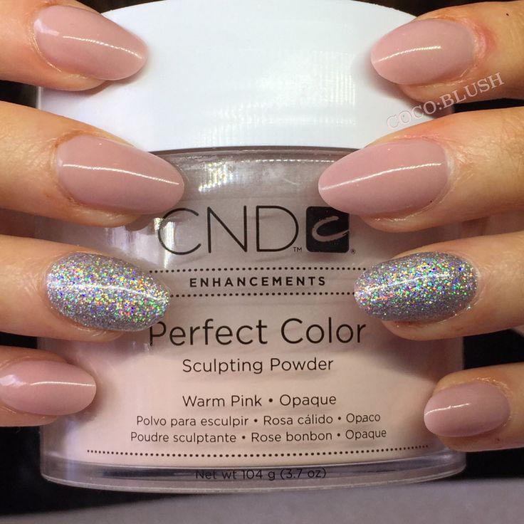 acrylic nails nude sculpted cnd lecent u00e9 glitter