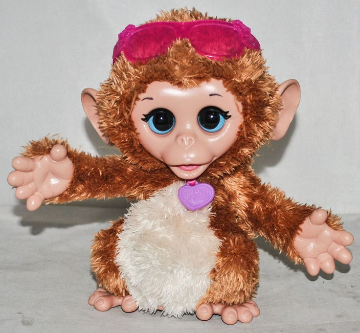 FurReal Friends Baby Cuddles My Giggly Monkey, Excellent Full Working Condition