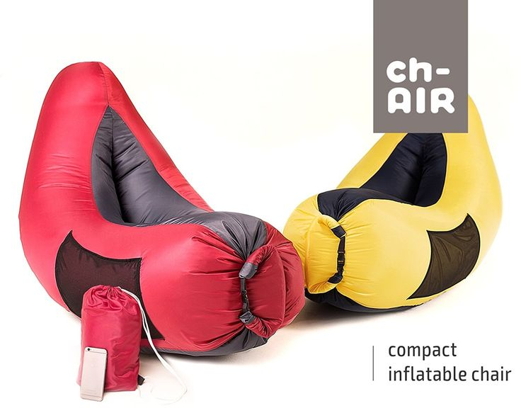 Inflatable Hammock Air Bag Lounge Chair! Sofa for Indoor or Outdoor Inflates In Seconds! Carry Bag Included! Waterproof Lounger Air Mattress for Camping Picnics Beach and Music Festivals! *** See this awesome image  : Air Lounges