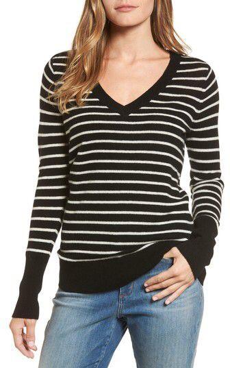 Women's Halogen V-Neck Cashmere Sweater