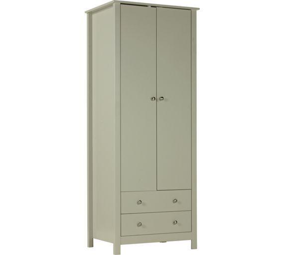 Buy Collection Osaka 2 Door 2 Drawer Wardrobe - Soft Grey £99.99