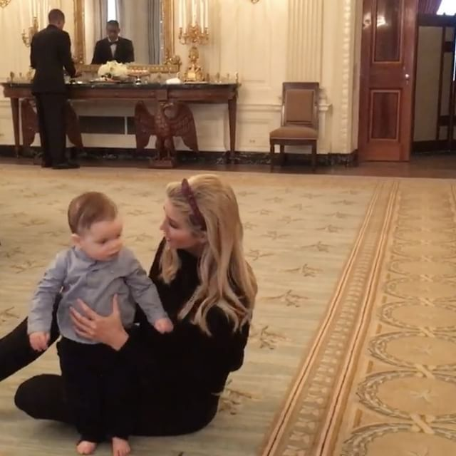 Ivanka Trump's baby son Theodore crawls for first time in White House Ivanka Trump's baby boy crawled for the first time Wednesday at the White House. #TheApprentice #DonaldTrump #IvankaTrump #MarlaMaples #IvanaTrump #MelaniaTrump @TheApprentice