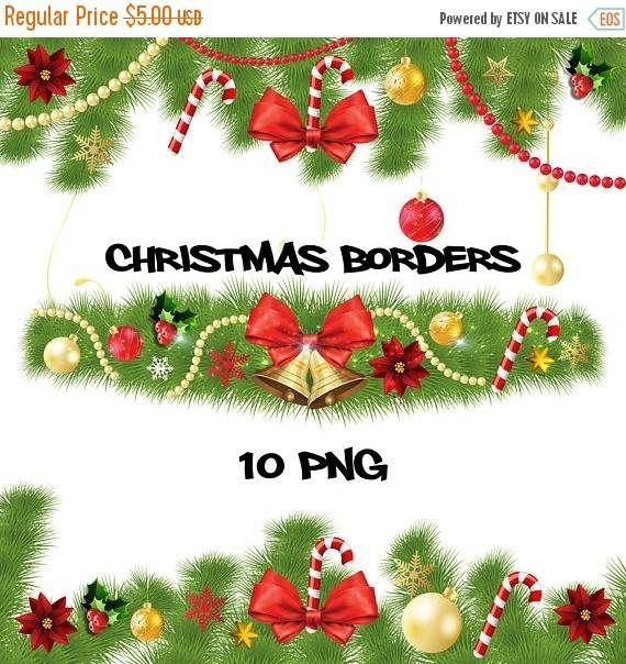 Christmas borders christmas decoration christmas clipart