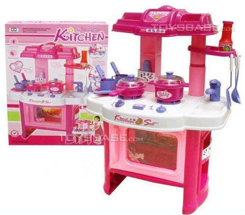 "Deluxe Beauty Kitchen Appliance Cooking Play Set 24"" w/ Lights & Sound Kitchen Set http://www.amazon.com/dp/B005IZHM7Q/ref=cm_sw_r_pi_dp_.QD5vb0K0R4ME"