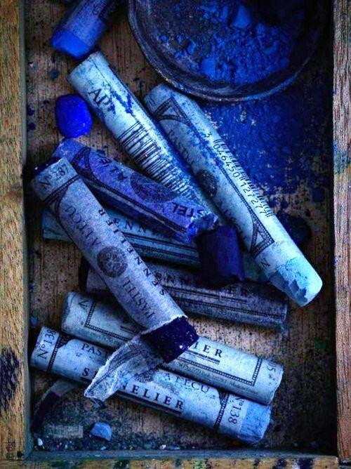blauw krijt