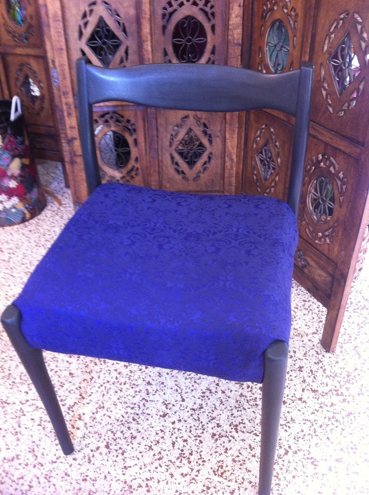 chair with new paint and new fabric