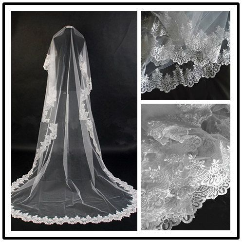 Cathedral veil 118 length Ivory or white by CrystalfashionNYC, $38.90